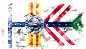 Tampa miasta dymu flaga, Floryda stan, Stany Zjednoczone Ameryka ilustracja wektor