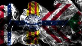 Tampa miasta dymu flaga, Floryda stan, Stany Zjednoczone Ameryka fotografia royalty free