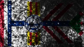 Tampa miasta grunge flaga, Floryda stan, Stany Zjednoczone Ameryka royalty ilustracja