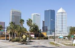 Tampa miasta rozdroże zdjęcia royalty free
