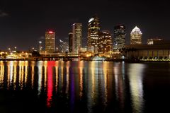 Tampa at night in October 2009 Stock Images