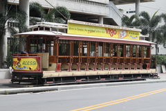 Tampa Open Streetcar stock photo