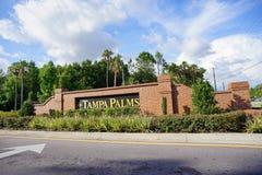 Tampa palmy społeczność zdjęcie stock