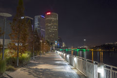 Tampa Riverwalk at Curtis Hixon Waterfront park Royalty Free Stock Photo