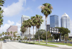 Tampa`s Channelside Drive Royalty Free Stock Images