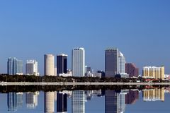 Tampa's Skyline Royalty Free Stock Photography