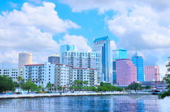 Tampa skyline as viewed from Davis Island Royalty Free Stock Photos