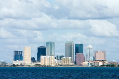 Tampa Skyline Bay View Stock Photo