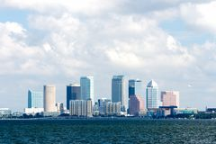 Tampa Skyline Bay View Stock Photo