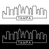 Tampa skyline. Linear style. Editable vector file vector illustration
