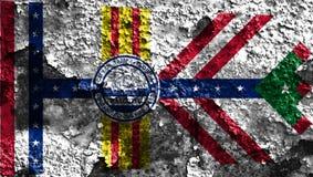 Tampa-Stadtrauchflagge, Staat Florida, die Vereinigten Staaten von Amerika Lizenzfreie Stockfotos