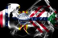Tampa-Stadtrauchflagge, Staat Florida, die Vereinigten Staaten von Amerika lizenzfreie stockfotografie
