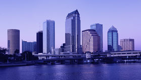 Tampa - twilight Stock Photography