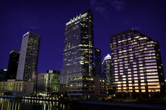 Tampa at Twilight Royalty Free Stock Photography