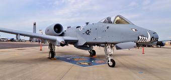Air Force A-10 Warthog/Thunderbolt II Fighter Jet Stock Image