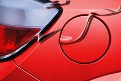 Tampa vermelha da gasolina do carro. vetor Imagens de Stock Royalty Free
