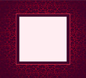 Tampa violeta do ornamento do projeto Foto de Stock Royalty Free