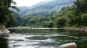 Tamparuli flod Arkivfoto