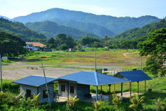 Tamparuli Landscape View in Sabah, Malaysia. SABAH, MY - JUNE 18: Tamparuli landscape view on June 18, 2016 in Sabah, Malaysia. Tamparuli is a small town of Royalty Free Stock Photo