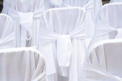 Tampas da cadeira do casamento Fotos de Stock