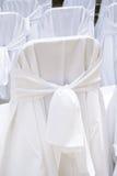 Tampas da cadeira do casamento Imagens de Stock