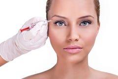 Tampas da parte superior da correção de Botox foto de stock
