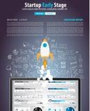 Tampas do Web page Startup da aterrissagem ou do projeto incorporado Imagens de Stock Royalty Free