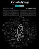 Tampas do Web page Startup da aterrissagem ou do projeto incorporado Foto de Stock