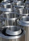 Tampas inoxidáveis da isolação da tubulação de aço Fotografia de Stock Royalty Free