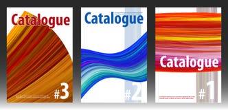 Tampas para o catálogo ou o compartimento abstrato ilustração royalty free