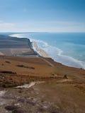 Tampe Blanc Nez, litoral do Mar do Norte, France Imagem de Stock