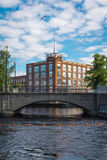 Tampella building in Tampere, Finland Royalty Free Stock Photos