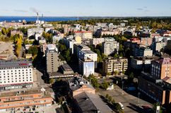 Tampere buildings- view from Solo Sokos Hotel Torni Tampere Royalty Free Stock Image