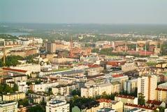 Tampere buildings- widok od Nasinneula wierza obrazy royalty free