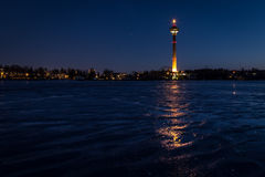 Tampere from bumpy ice Royalty Free Stock Images