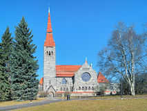 Tampere Cathedral, Finland. Tampere Cathedral in National Romantic style, Finland Royalty Free Stock Photo