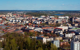 Tampere city. Aerial view of Tampere city in Finland Royalty Free Stock Photo