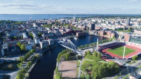 Tampere city top view royalty free stock image