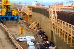 Tampere Deck and Arena project construction site. royalty free stock photos