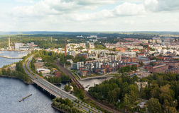 Tampere Finland. Aerial view of Tampere, Finland Royalty Free Stock Images