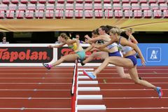NIAMH EMERSON GBR, English track and field field athlete leeds in heptathlon in the IAAF World U20 Championship Tampere, Finland. TAMPERE, FINLAND, July 12 stock photography
