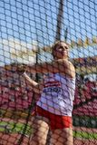 PATRYCJA MACIEJEWSKA from Poland on hammer throw final on the IAAF World U20 Championship Tampere, Finland 14 July, 2018. TAMPERE, FINLAND, July 14: PATRYCJA stock photo