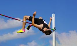 On the high jump stock photo