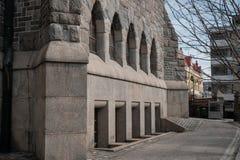 Tampere, Finlande, éléments de l'architecture de la cathédrale de Tampere Images libres de droits