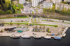 Tampere harbour Stock Photography