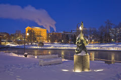 Tampere Night Royalty Free Stock Photo