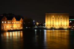 Tampere at night royalty free stock photos