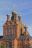 Tampere orthodox church. In Finland Royalty Free Stock Photo