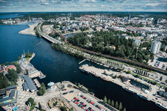 Tampere town from above. Finland. Royalty Free Stock Photos