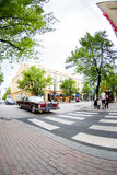 Tampere traffic on summer day Royalty Free Stock Photography